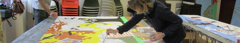 participants creating community murals