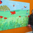 Mural panel depicting summer 2. 4 mtr by 1.5mtr