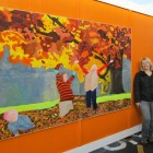 Mural panel depicting Autumn, 2. 4 mtr by 1.5mtr
