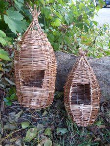 photo of willow bird houses