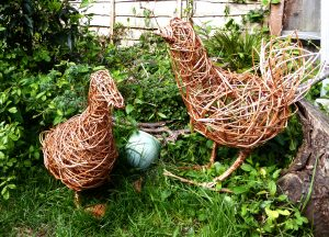 picture of willow duck and chicken for workshops by JaxsArts Willow Sculpture & Crafts