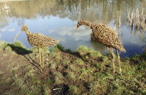 willow curlew and egret for workshops by JaxsArts Willow Sculpture & Crafts