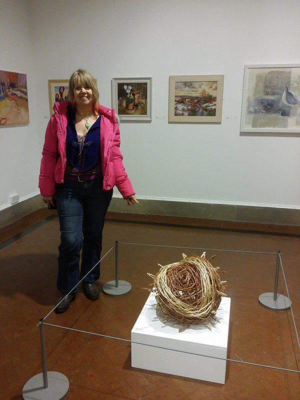 Me with my willow chestnut at the Four seasons art exhibition