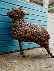 pic of willow sheep sculpture