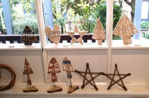 photo of small willow christmas decorations