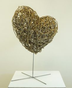 photo of large willow heart