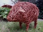 Pic of willow pig for workshops from JaxsArts Willow and Crafts