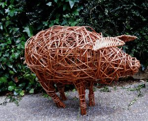 photo of my willow pig model from side used at workshops