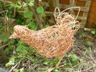 willow chicken sculpture