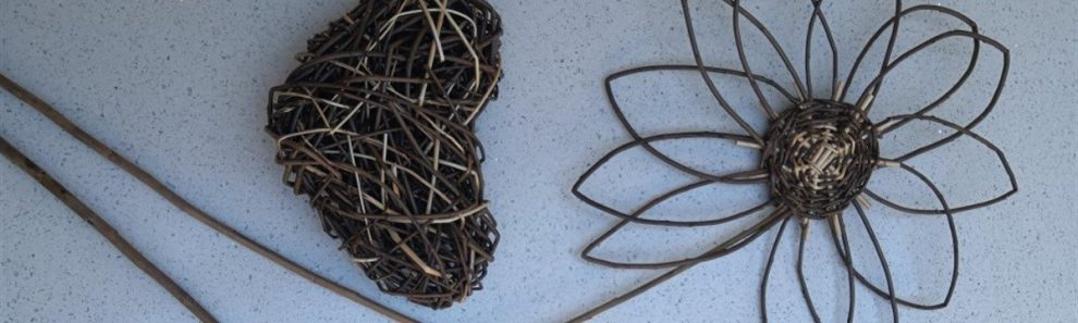 photo of small willow heart and flow from my workshops