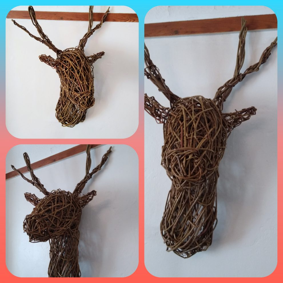 willow reindeer and stag head for workshops
