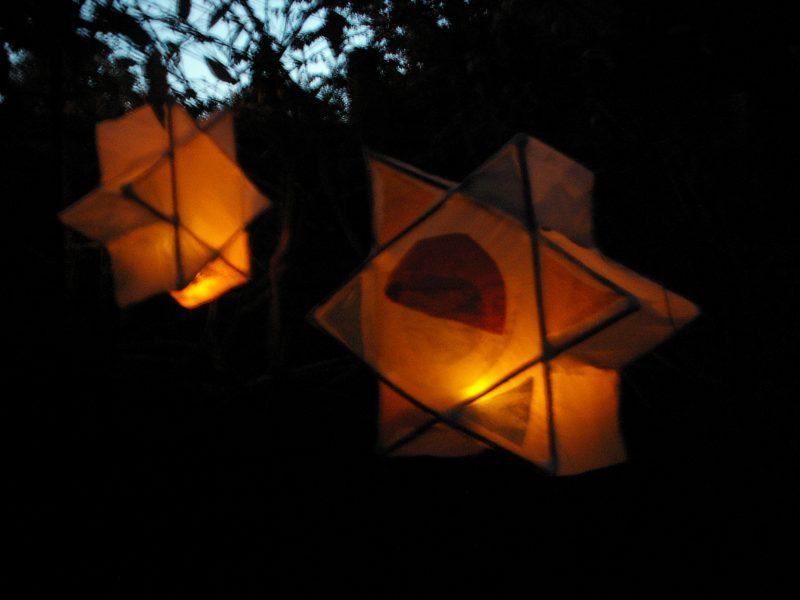 Star lantern in the dark