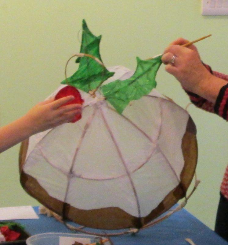 Christmas pudding willow lantern