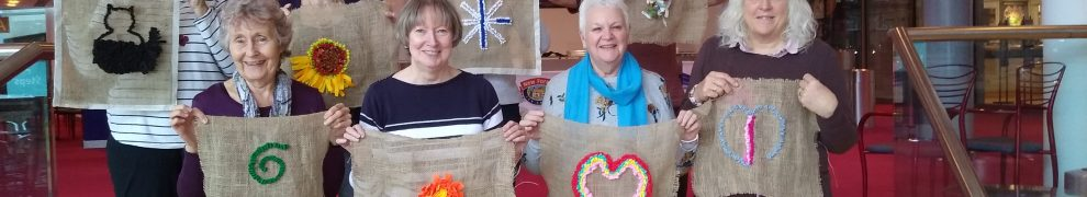 students from previous rag rug workshop